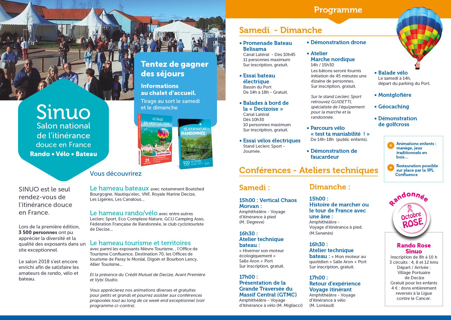 Programme Sinuo - 2018